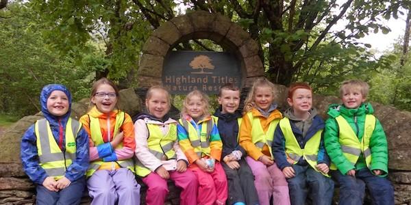 Besuch der Strath of Appin Grundschule im Naturreservat